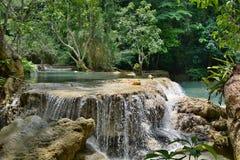 Kuangsi siklawy park Luang Prabang Laos Fotografia Royalty Free