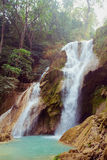 Kuangsi  waterfall in deep forest in Laos Royalty Free Stock Photography