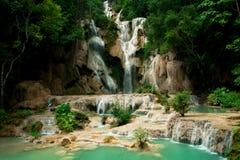 Kuangsi waterfall Stock Photo