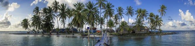 Kuanidup Island Panorama. A panorama shot of a small tropical island Stock Photos