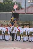 KUANTAN 31-ОЕ АВГУСТА: Малайзийцы участвуют в параде национального праздника, ce Стоковые Фотографии RF