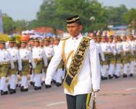 KUANTAN 31-ОЕ АВГУСТА: Малайзийцы участвуют в параде национального праздника, ce Стоковая Фотография