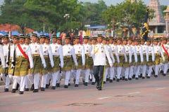 KUANTAN 31-ОЕ АВГУСТА: Малайзийцы участвуют в параде национального праздника, ce Стоковые Фото