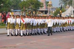 KUANTAN 31-ОЕ АВГУСТА: Малайзийцы участвуют в параде национального праздника, ce Стоковые Изображения