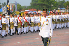 KUANTAN-AUG 31:Malaysians participate in National Day parade, celebrating the 58th anniversary of independence on August 31, 2015 Stock Image
