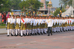 KUANTAN 31. AUGUST: Malaysians nehmen an der Nationaltagparade, Cer teil Stockbilder