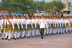 31 kuantan-augustus: Malaysians nemen aan Nationale Dagparade deel, Ce Stock Foto's
