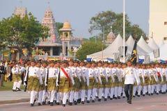 KUANTAN 31 DE AGOSTO: Los malasios participan en el desfile del día nacional, ce Imágenes de archivo libres de regalías