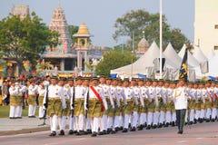 KUANTAN 31 DE AGOSTO: Los malasios participan en el desfile del día nacional, ce Foto de archivo libre de regalías