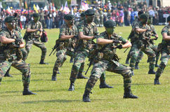 KUANTAN, MALAYSIA - 31. AUGUST: Malaysia-Armee demonstr Stockfotos