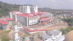 Kuantan, Pahang / Malaysia - August 27 2018 : Aerial View at IIUM. Cinematic Aerial View at IIUM International Islamic University Malaysia Kuantan stock footage