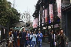 Kuanzhai aleja w Chengdu mieście, Chiny zdjęcia royalty free