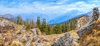 Kuari Pass top Himalaya Royalty Free Stock Photos