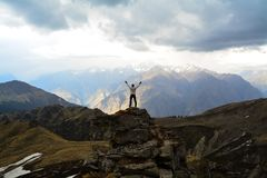 Kuari przepustka w Uttarakhand, India zdjęcia stock