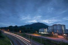 Kuarters KTM大山脚,槟榔岛,马来西亚 免版税库存照片