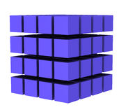 kub 3 stock illustrationer