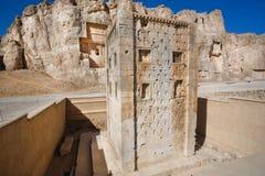 Kub av Zoroaster, 5th århundrade F. KR. Persepolis Iran Arkivbild