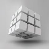 kub 3D Royaltyfri Bild