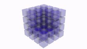 kub för abstrakt begrepp 3D Royaltyfria Bilder