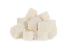 Kub för vitt socker Arkivfoto
