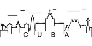 Kubaöversiktssymbol Kan användas för rengöringsduken, logoen, den mobila appen, UI, UX stock illustrationer