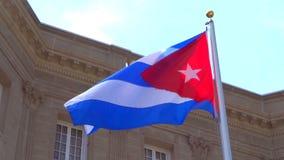 Kubańczyk flaga w wiatrze zdjęcie wideo