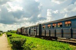 Kubańczyk linie kolejowe i pociągi Zdjęcia Stock
