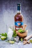Kubańczyk Mojito z Hawańskim Świetlicowym rumem Zdjęcie Stock