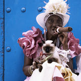kubańska cygarowa damo Zdjęcia Stock