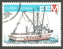 Kubańska połów flota zdjęcia stock