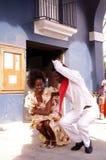 Kubański tancerz rusza się szalony Kubański rumba rytm obraz royalty free