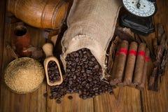 Kubańskich cygar powiązane rzeczy Obraz Royalty Free