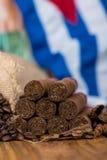 Kubańskich cygar powiązane rzeczy Obrazy Royalty Free
