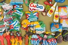 Kubańskie flaga państowowa, palma, Che Guevera portrety i inny frid, obrazy stock