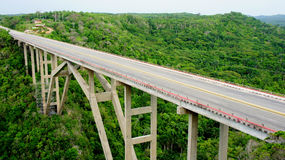 Kubańczyka most. gubernialny Mantanzas. fotografia royalty free