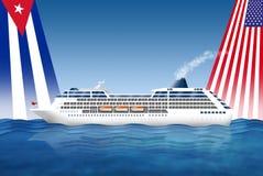 Kuba för USA för kryssningskepp Arkivbild