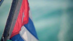Kuba flaga na łodzi zbiory wideo