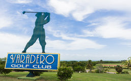 Kuba-Golfplatz in Varadero mit Schild Stockbilder