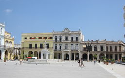 Kuba Habana, mitt av den gamla staden Arkivbild