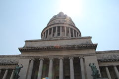 Kuba Habana, mitt av den gamla staden, Kapitoliumbyggnad Royaltyfria Bilder