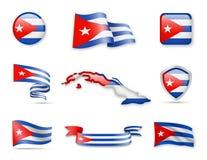 Kuba kennzeichnet Sammlung Lizenzfreies Stockfoto