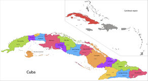 Kuba mapa ilustracji
