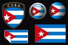Kuba-Markierungsfahne Lizenzfreies Stockfoto