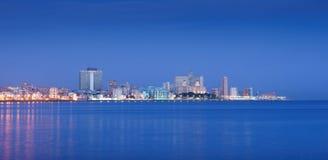 Kuba, morze karaibskie, losu angeles habana, Havana, linia horyzontu przy rankiem Zdjęcia Stock