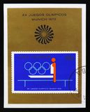 Kuba od serii XX lata olimpiad, Monachium, 1972, około 1973 Zdjęcia Royalty Free