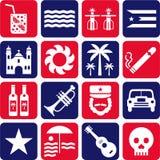 Kuba-Piktogramme Stockbild