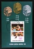 Kuba, serie poświęcać Montreal gry 1976, około 1976 Zdjęcia Royalty Free