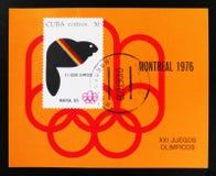 Kuba, serie poświęcać Montreal gry 1976, około 1976 Zdjęcia Stock