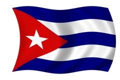 kubańska flaga Zdjęcia Stock