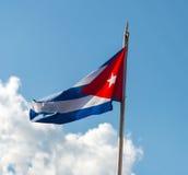 kubańska flaga Zdjęcie Royalty Free